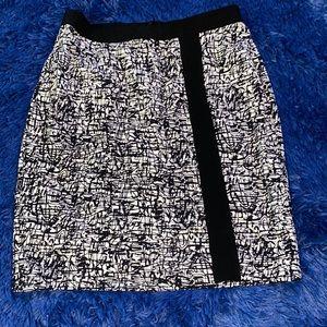 Ann Taylor black and white skirt
